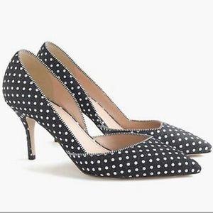 Colette d'Orsay pumps in polka-dot denim
